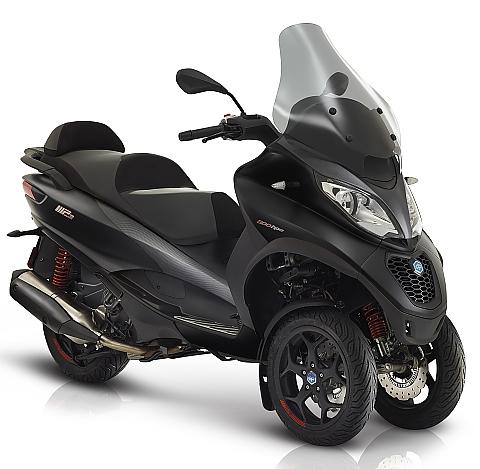 Piaggio Mp3 500 HPE Advanced zwart  vooraanzicht